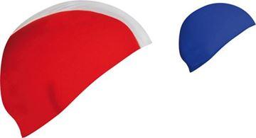 Afbeelding van badmuts - polyester - kids - rood/wit