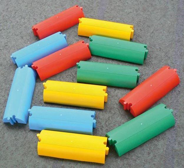 Afbeelding van evenwichtsbalkje - recht - geel