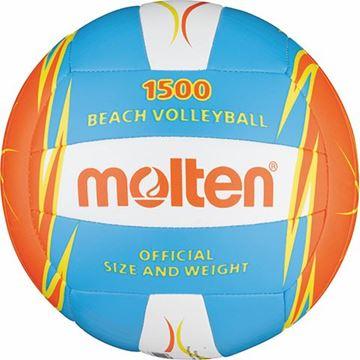 Afbeelding van Molten Beachvolley BV1500, blauw/oranje