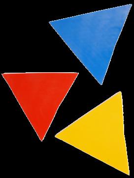 Afbeelding van driehoek - rubber - blauw