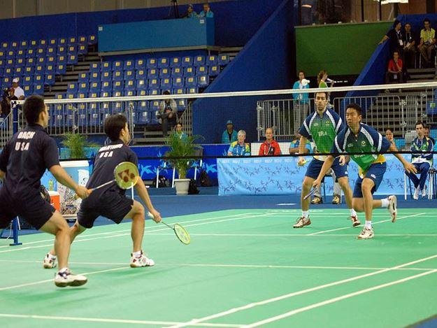 Afbeelding van Badmintonnet top wedstrijd: 6,1x0,76m - zwart