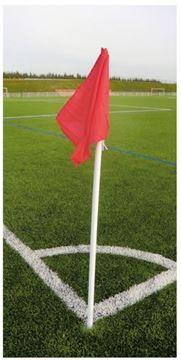 Afbeelding van 060178 - cornerpalen vast - set/4 - rode vlag