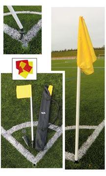 Afbeelding van cornerpalen rubberflex- set/4 - rode vlag