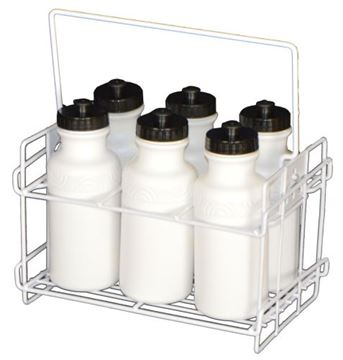 Afbeelding van draagrek metaal + 6 drinkbussen 50cl