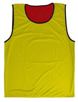 Afbeelding van rugbyhesje - omkeerbaar - M/L - rood/geel