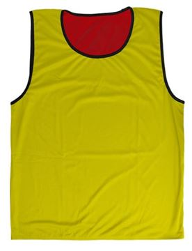 Afbeelding van rugbyhesje - omkeerbaar - XL/2XL - rood/geel