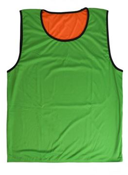 Afbeelding van rugbyhesje - omkeerbaar - XL/2XL - oranje/groen