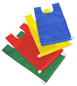 Afbeelding van overgooier nylon - zonder velcro - L - blauw