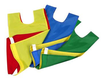 Afbeelding van overgooier nylon - omkeerbaar - L - geel/rblauw