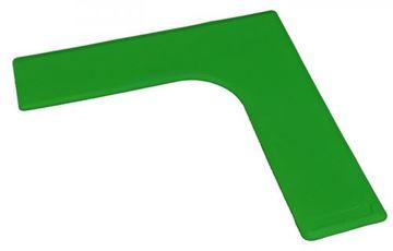 Afbeelding van hoek - rubber - 27/27cm - groen