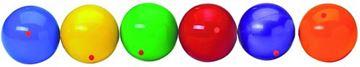 Afbeelding van jongleerbal PVC - oranje