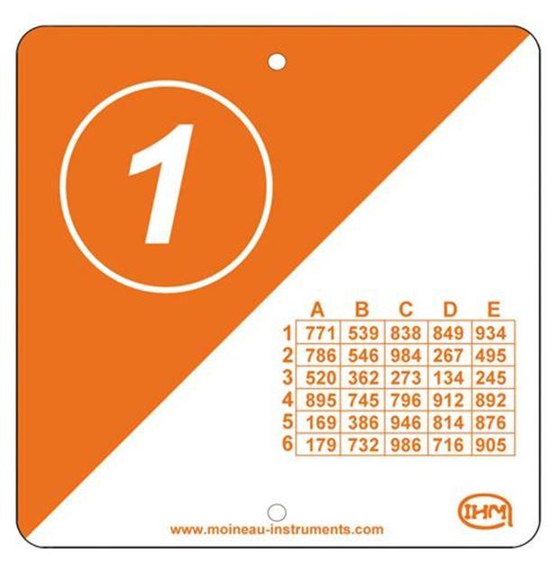 Afbeelding van zoekpost recto/verso codes -  15x15 - set/10