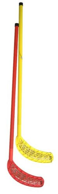 Afbeelding van unihockeystick - geel