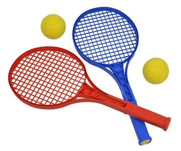 Afbeelding van set/2 mini-tennis rackets + 2 ballen