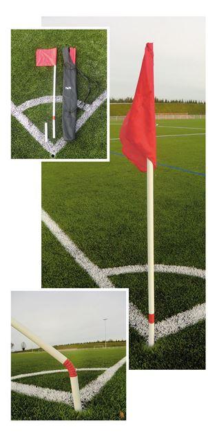 Afbeelding van 060179B - cornerpalen flex - set/4 - rode vlag
