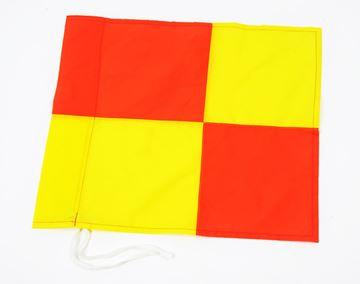 Afbeelding van cornervlag geblokt voor paal diam 40mm