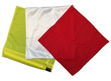 Afbeelding van cornervlag wit