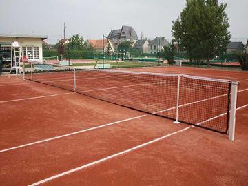 Afbeelding van tennisnet 12,70m - 3mm - dubb topmaas - Rondom band
