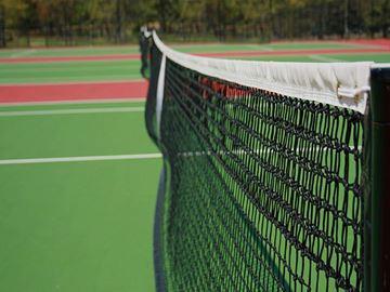 Afbeelding van tennisnet 12,80x1,05m - 3mm - dubbele topmaas