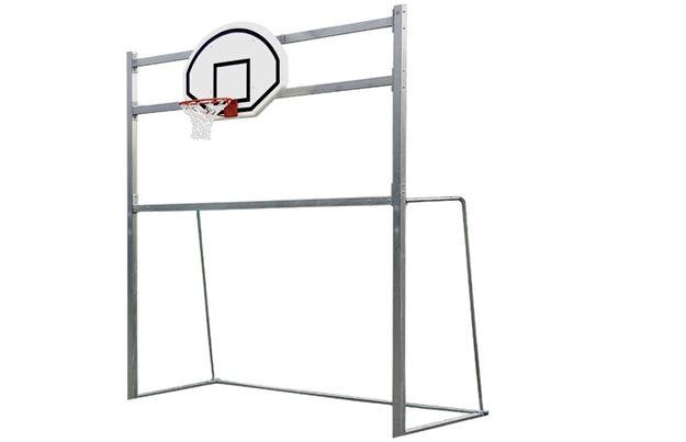 Afbeelding van Stalen doel combi handbal/basket