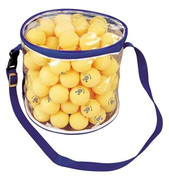 Afbeelding van tafeltennisballen oranje zak/100