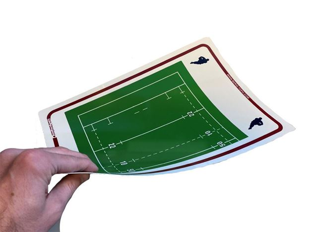 Afbeelding van Topo Soepele tactiek fiche Rugby