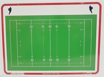 Afbeelding van Topo Soepel muurbord Rugby